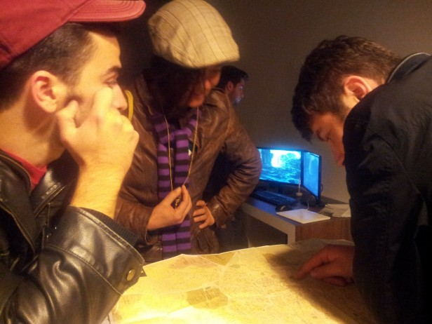 Studying the map of Prishtina 2013
