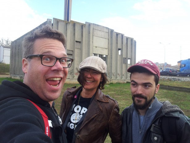 Josse, Rienke and Jetik in front of possible new HBX Home!