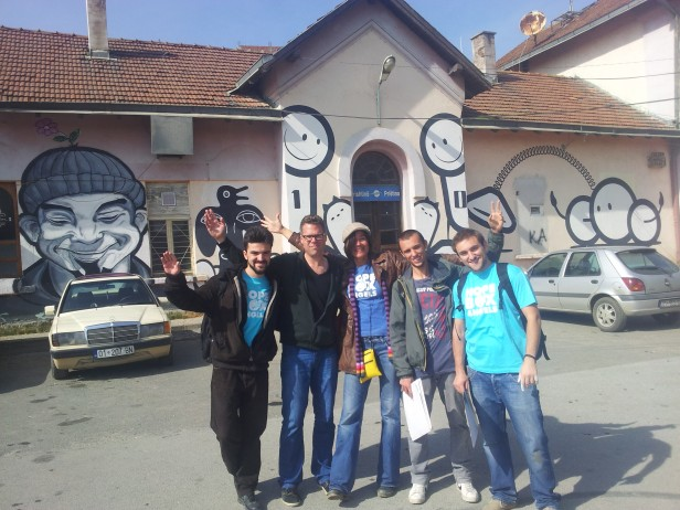 HBX BIG UP! team before HBX XPRSS Central train station Prishtina 2013