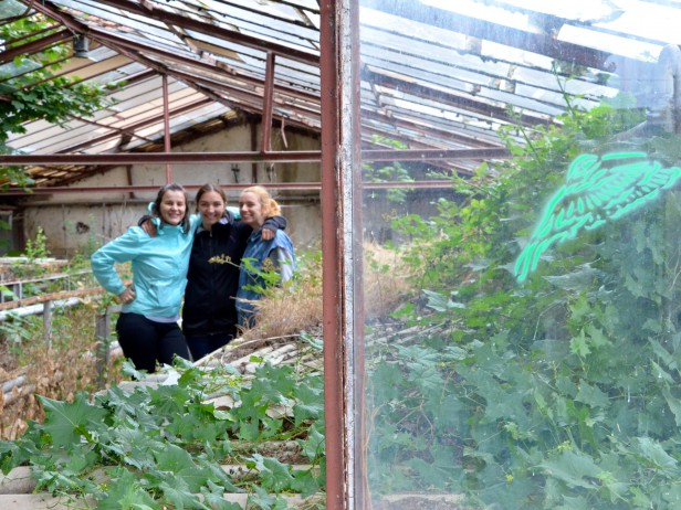 Bee girls in HBX Bee UP! Greenhouse